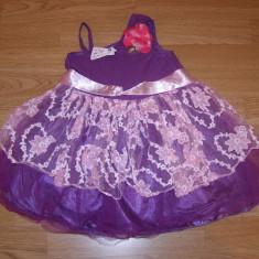 costum carnaval serbare rochie gala dans floare printesa copii de 3-4-5 ani