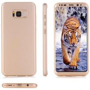 Husa Full Cover 360° (fata + spate) pentru Samsung Galaxy S8 Plus, Gold