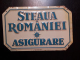 Tabla ambutisata interbelica reclama asigurari romaneasca