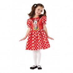 Costum fetite Minnie Mouse, varsta 7-8 ani, marime L, Rosu