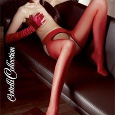 Ciorapi Cu Portjartier Sexy, Rosu - S/M