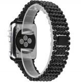Cumpara ieftin Curea pentru Apple Watch Black Luxury iUni 40 mm Otel Inoxidabil