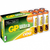 Set 16 buc baterie AA (R6) ultra alcalina, GP Batteries