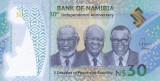 Bancnota Namibia 30 Dolari 2020 - PNew UNC ( polimer , comemorativa )