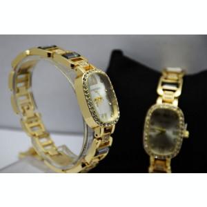 Ceas elegant de dama Shine Crystal - Gold Edition, bratara metalica OFERTA...