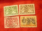 Serie mica Nyasaland 1934 R.George V , 4 val. stampilate, Stampilat