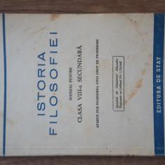 Istoria filosofiei - Manual pentru clasa a VIII-a secundara, 1947
