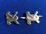 Insigne militare - Insigne România - Semne de armă - Auto (culoare argintie)
