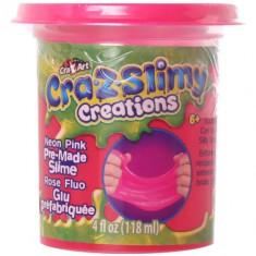 Borcanel cu Slime Neon Cra-Z-Slimy Roz Neon