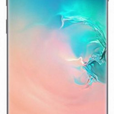 Telefon Mobil Samsung Galaxy S10, Dynamic AMOLED Capacitive touchscreen 6.1inch, 8GB RAM, 128GB Flash, Camera Tripla 12+12+16MP, 4G, Wi-Fi, Dual SIM,, Alb, Neblocat, Smartphone