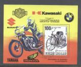 Guinee Bissau 1985 Motorcycle centenary perf. sheet Mi.B263 used TA.114, Stampilat
