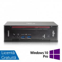 Calculator Fujitsu Esprimo Q556 USFF, Intel Core i5-6400T 2.20GHz, 8GB DDR4, 120GB SSD + Windows 10 Pro