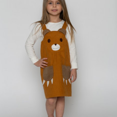 Rochiță Sarafan ursuleț MISHKA costum serbare by KIDissue, 1-2 ani, 2-3 ani, 3-4 ani, 4-5 ani, 5-6 ani, 6-7 ani, 7-8 ani, 8-9 ani, 9-10 ani, Din imagine