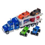 Set camion cu 6 masinute de jucarie, 54.5x9x16.5 cm , multicolor