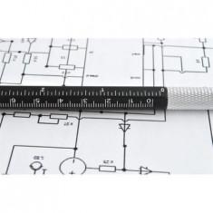 Pix 6 in1 Multifunctional Rigla,2 Surubelnite,Touchscreen Pen,Nivela cu Bula,NOU