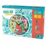 Cumpara ieftin Puzzle cu ceas Ora de joaca - Dinozauri, 100 piese, Noriel