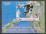 Yemen 1970 Sport, imperf. sheet, used L.109, Stampilat