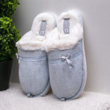 Papuci de casa dama albastri Raunia-rl