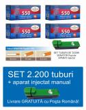 2.200 tuburi de tigari pentru tutun, SENATOR 4 x 550 + injector manual