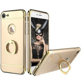 Husa telefon Iphone 7 ofera protectie 3in1 Ultrasubtire - Deluxe Gold Ring