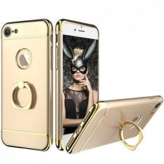 Husa telefon Iphone 7 ofera protectie 3in1 Ultrasubtire - Deluxe Gold Ring