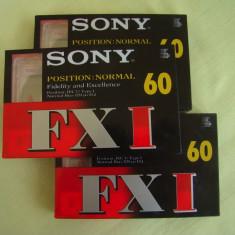 Lot 3 Casete Audio SONY FXI 60 min - NOI Sigilate