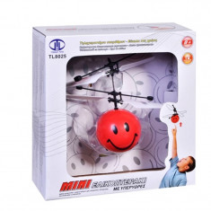 Mini Elicopter cu infrarosu Smiley, 8 ani+, Rosu