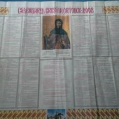 CALENDAR CRESTIN ORTODOX 2002
