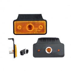 Lampa gabarit auto BestAutoVest 12/24V dreptunghiulara Portocaliu, cu suport bec, 110x45mm, cu suport fixare, 1 buc. Kft Auto