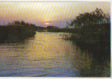Bnk cp Apus de soare in Delta Dunarii - Vedere - necirculata, Printata