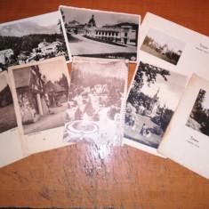 Vederi Sinaia Peles, Cazinou, Pelisor, necirculate 1927, Necirculata, Fotografie