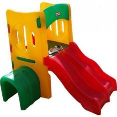 Centru de joaca tunel cu doua tobogane pentru copii Little Tikes
