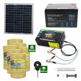 Gard electric cu Panou solar 3,1J putere cu 6000m Fir 160Kg cu acumulator 12Ah