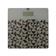 Cantar digital de baie MSV Calula, display LCD, 1xCR 2032 3V, 180 kg, cu motive abstracte, Multicolor