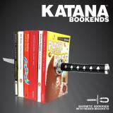 Set 2 suporturi laterale magnetice pentru carti - Katana - Samurai Sword | Just Mustard