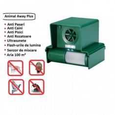 Aparat anti pasari rozatoare caini pisici cu ultrasunete Animal Away Plus foto