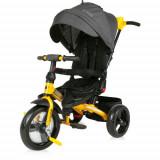 Cumpara ieftin Tricicleta Multifunctionala 4 in 1 Jaguar cu Sezut Rotativ, Colectia 2021 Black & Yellow, Lorelli