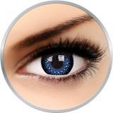 Eyelush Blue - lentile de contact colorate albastre trimestriale - 90 purtari (2 lentile/cutie)