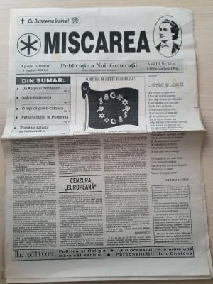 miscarea 1-15 octombrie 1994-ziar legionar,moartea lui elena zelea codreanu foto