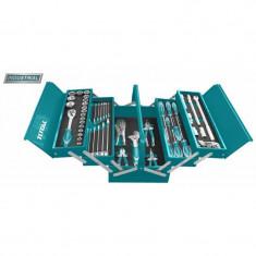 Trusa de scule in cutie metalica 59 piese (INDUSTRIAL) Total THTCS12591