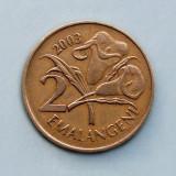 SWAZILAND  -  2 Emalangeni 2003  -  Mswati III