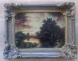 Peisaj cu lac// ulei pe panza, maniera impresionista, prima jum. a sec. XX