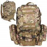 Rucsac unisex militar Tactical Camo, 45L + 3,5L, poliester 600D