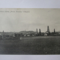 Rara! Carte postala Campina schela Gahita ,,Steaua Romana'' cirulata 1915, Circulata, Printata