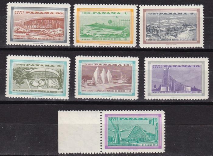 Panama  1958  Expozitia  mondiala  MI  530-536   MNH  w60