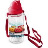 Sticla pentru copii Cars cu pai, 450 ml Star ST59718Initiala