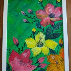 """Tablou pictura acrilica """"Flowerscape"""""""