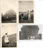 4 fotografii sasi din Sebes, Alba, la muncile campului 1941