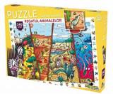 Puzzle Lumea vesela - Regatul animalelor, 240 piese, Noriel