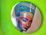 9688- Nefertiti-Oglinda mica dama poseta vintage metal stil lito.